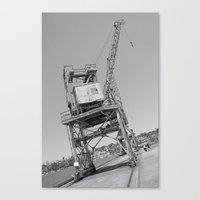 Dockyard Crane Canvas Print