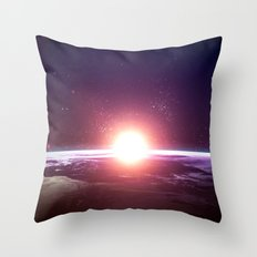 Earth from Space Throw Pillow