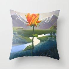 Flower Lovers Throw Pillow
