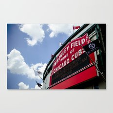 Wrigley Field Sign - Pearl Jam Chicago 2013 Canvas Print
