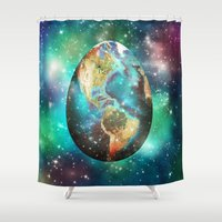 Somewhere In The Univers… Shower Curtain