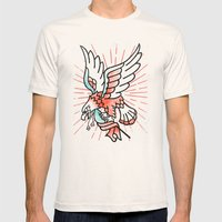 Eagle Mens Fitted Tee Natural SMALL