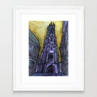 rainy Fribourg Framed Art Print