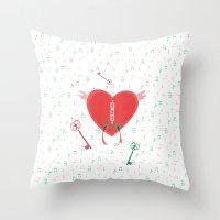 Keys Of Heart Throw Pillow