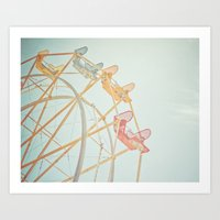 Ferris Wheel Dreams Art Print