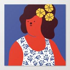 Caribbean girl Canvas Print