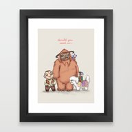 Should You Need Us... Framed Art Print