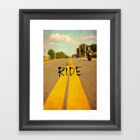 Moto Poster Framed Art Print