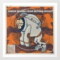 Space Ape - Simian Sounds from Beyond Space! Art Print