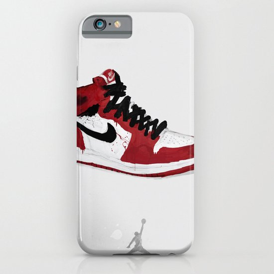 Nike Air Force 1 - Retro - Red & Black & White iPhone & iPod Case