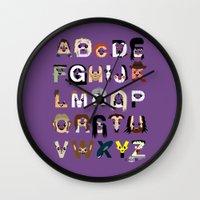 Horror Icon Alphabet Wall Clock
