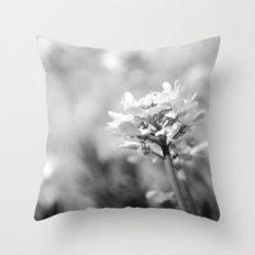 FRÜHLINGSWIESE - SCHWARZ/WEISS Throw Pillow