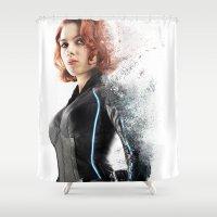 Black Widow Shower Curtain