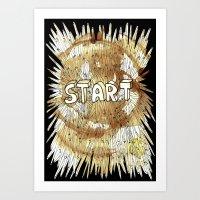 Start. Art Print