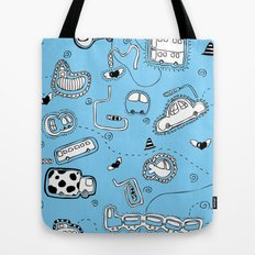 Vehicle Doodle (: Tote Bag