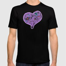 Heartfull en colour Mens Fitted Tee Black SMALL