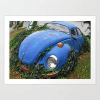Nature: 1 - Volkswagen Beetle: 0 Art Print