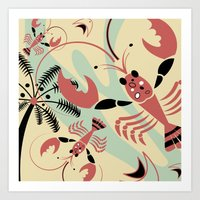 Lobster Rhumba Art Print