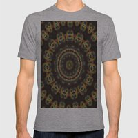 Peacock Velvet Mens Fitted Tee Athletic Grey SMALL