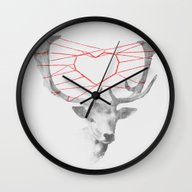 Wall Clock featuring How Are You Dearie by Budi Kwan