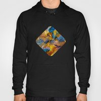 Gold & Blue Abstract Hoody