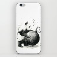 iPhone & iPod Skin featuring Panda Bomb by Olechka