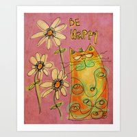 Be Happy Art Print