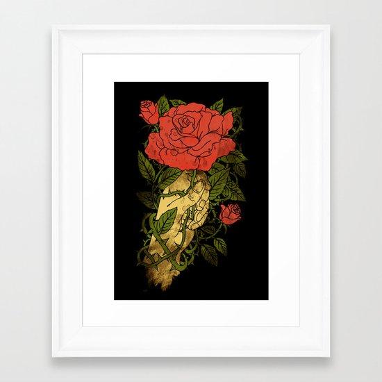 rose in my hand 2.0 Framed Art Print