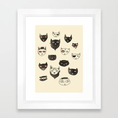My local cattery Framed Art Print