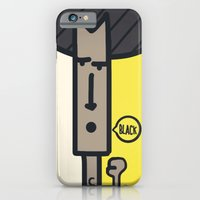 iPhone & iPod Case featuring BLACK! by Mini Finger
