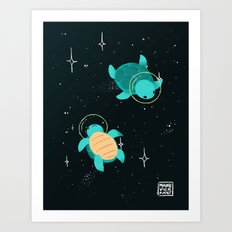 Space Turtles Art Print
