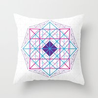 Geometric Scream Throw Pillow