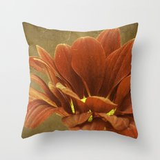 Vintage Chrysanthemum Throw Pillow