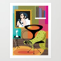 Black Velvet and a Modern Chair Art Print