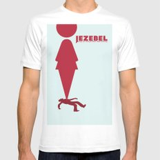 Essence of Jezebel White SMALL Mens Fitted Tee