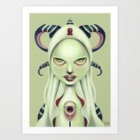 Straight in the Eye Art Print