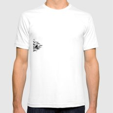 Troubled Waters SMALL Mens Fitted Tee White