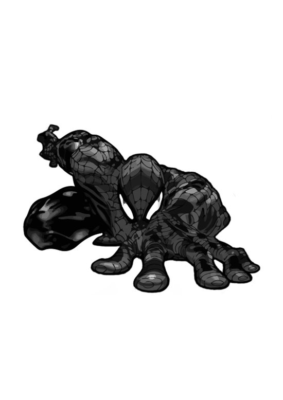 Spiderman B&W Art Print