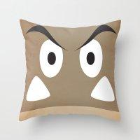 minimal shroom Throw Pillow