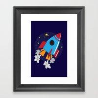 Space Cruiser Framed Art Print