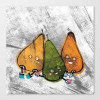 Drunken Pears Brothers Canvas Print