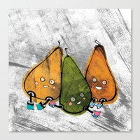 Drunken Pears Brothers Canvas Print