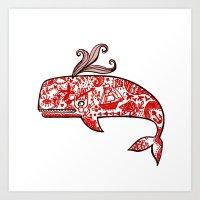 The Tattooed Whale In My… Art Print