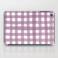Gingham Plum iPad Case
