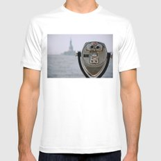Turn to Clear Vision White SMALL Mens Fitted Tee