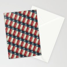 Retro style Texas state flag pattern Stationery Cards