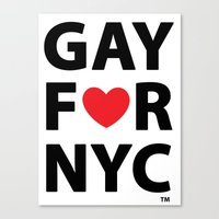 Gay For NYC Canvas Print