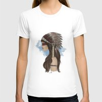 native american T-shirts featuring Native american by Erika Leiva