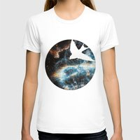 caelum nox Womens Fitted Tee White SMALL