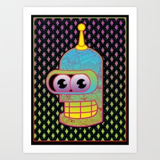 Mr. Shiny Metal  Art Print